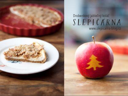 Božský drobenkový jablečný koláč s tvarohem