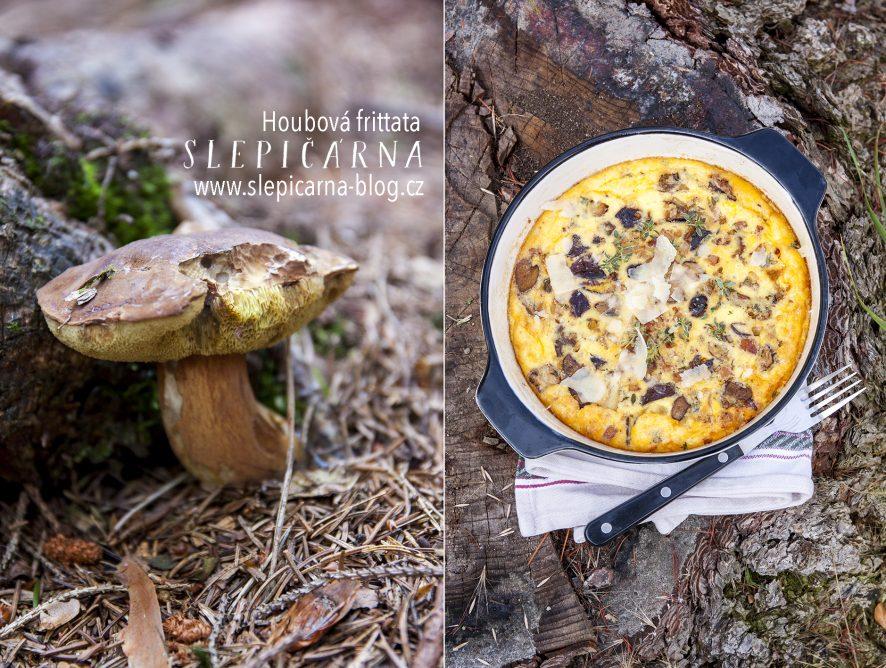Snídaňová frittata s houbami