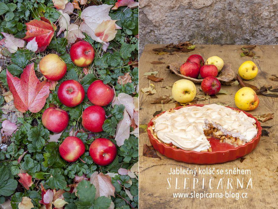 Podzimní koláč z jablek a nadýchaného sněhu