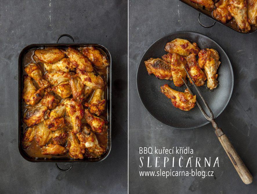 BBQ kuřecí křídla s chilli a medem