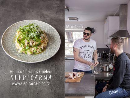 Mike Trafik vaří: Houbové risotto s trhaným kuřecím masem