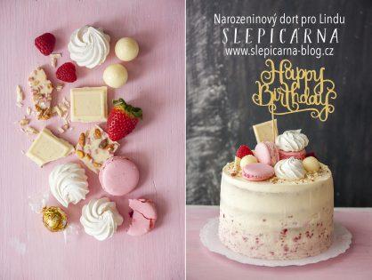 Lehký narozeninový dort pro holčičky
