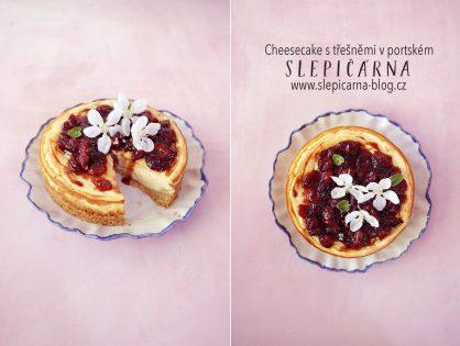 1. máj lásky čas s cheesecake a třešněmi