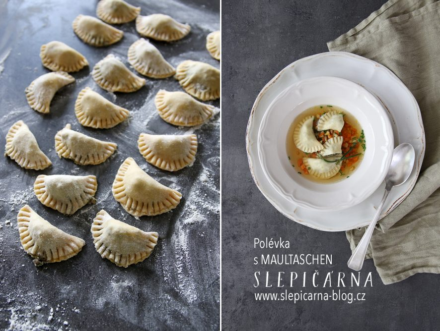 Enjoy German Food: Naše polévka s maultaschen
