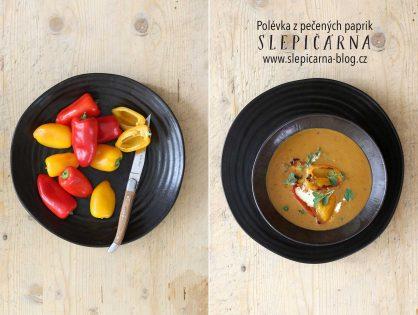 Letní krémová polévka z pečených paprik