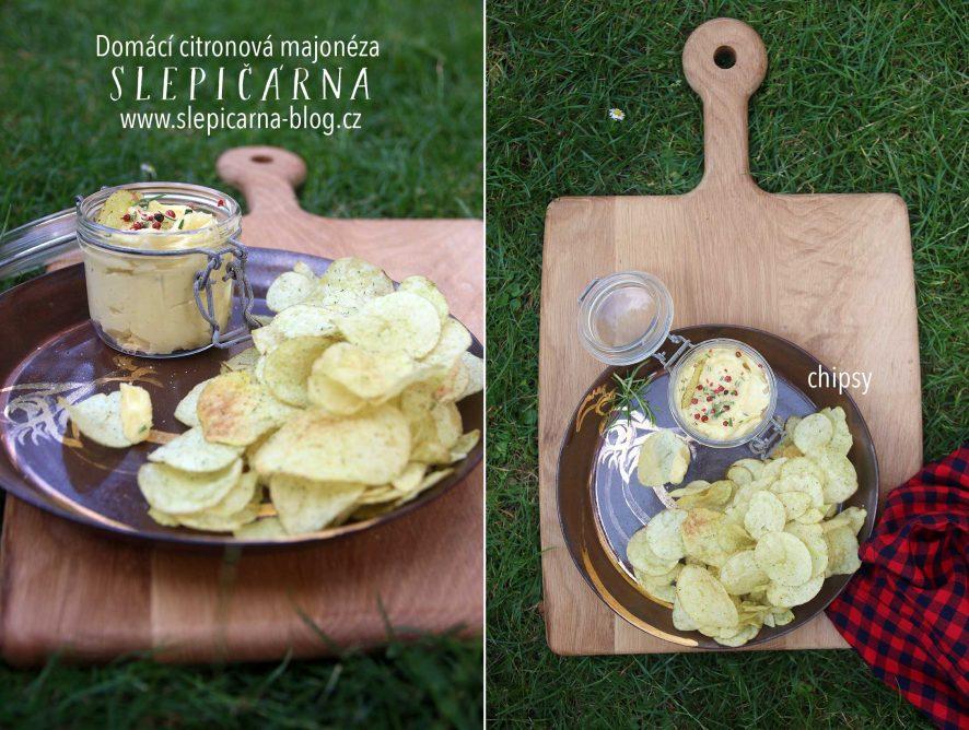 Domácí citronová majonéza s chipsy