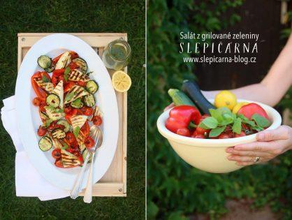 Salát z grilované zeleniny s halloumi a dresinku z máty