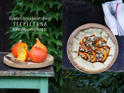 Podzimní galette s dýní a kozím sýrem