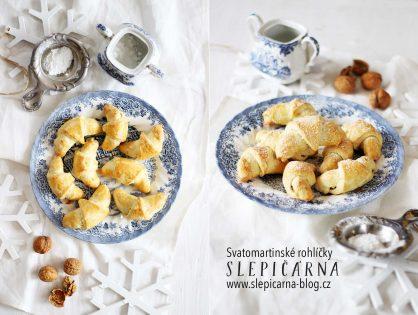Svatomartinské rohlíčky s ořechovou náplní