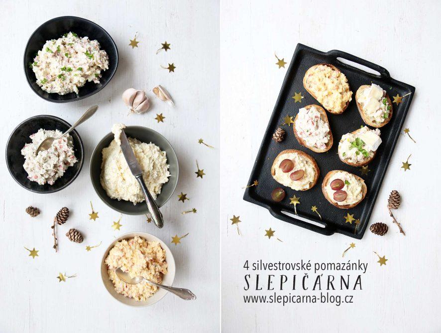 4 silvestrovské pomazánky na chlebíčky
