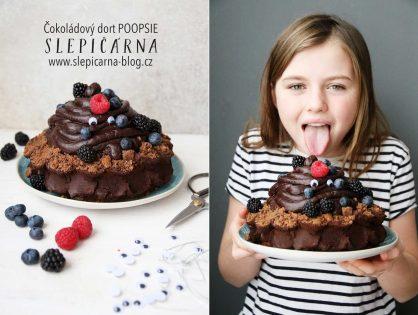 Narozeninový čokoládový dort POOPSIE