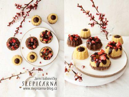 Jarní tvarohové MINI bábovičky s čokoládou