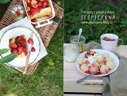 3 recepty z jahod a třešní (nejen) na piknik