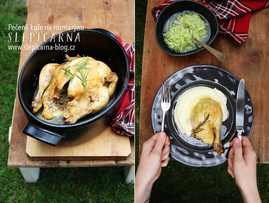 Upečte si farmářské kuře s rozmarýnem