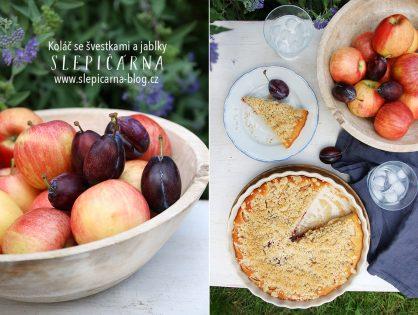 Lipánkový koláč s ovocem a ořechovou drobenkou