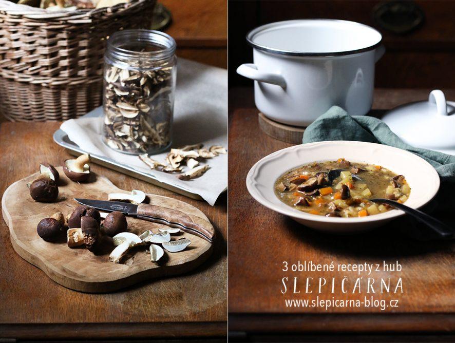 3 recepty z hub: frittata, polévka i omáčka