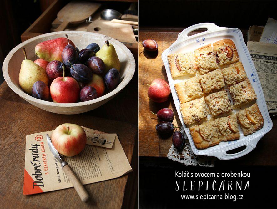 Koláč pro hospic: Kynutý koláč s ovocem a ořechovou drobenkou