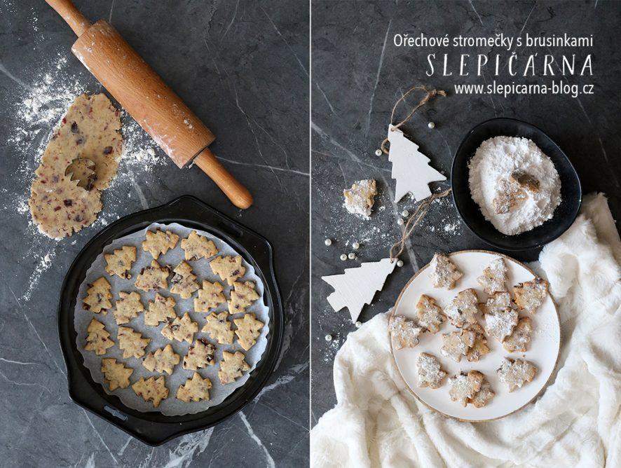 Inspirace na vánoční cukroví s vlašskými ořechy a brusinkami