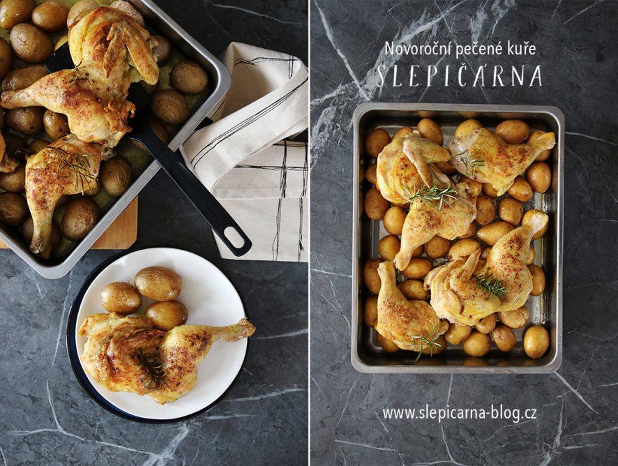 Jak na novoroční pečené kuře s bramborami