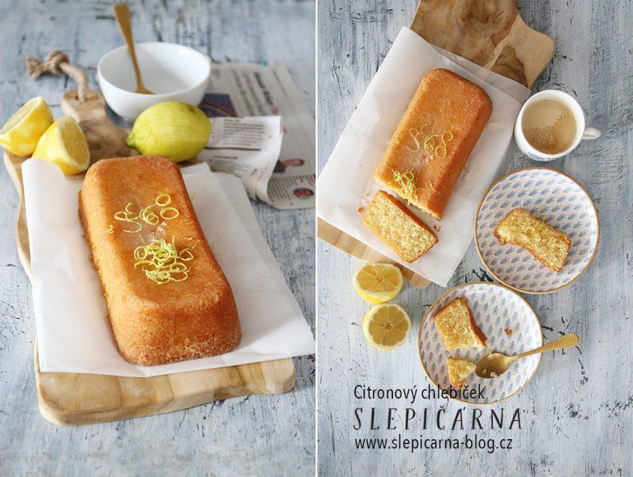Svěží a křehký citronový chlebíček s polevou
