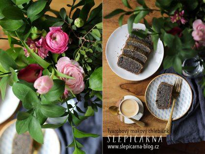 Odlehčete víkend tvarohovým makovým chlebíčkem s ořechy a minimem mouky