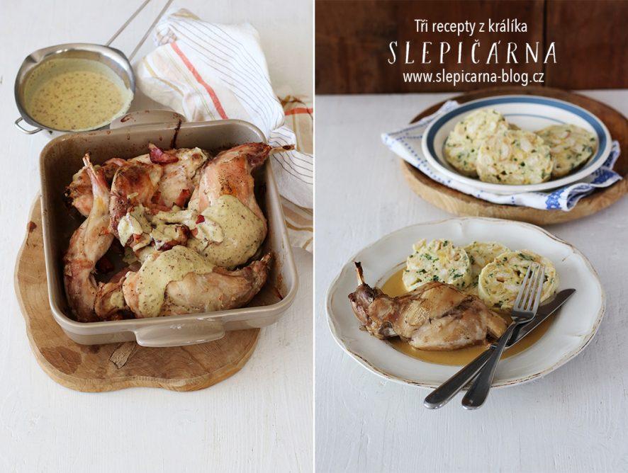 3 recepty z králíka: Na smetaně, s hořčičnou omáčkou a jarní paštika