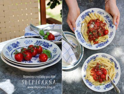 Rychlé těstoviny s rajčaty (nejen) pro děti