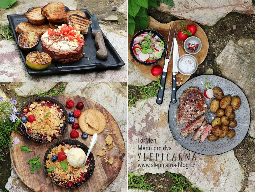 ForMen menu: tatarák, steak a crumble