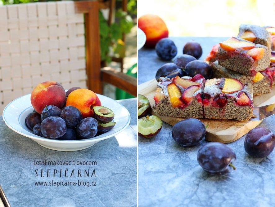 Hrnkový letní makovec s ovocem na plech (bez vajec)