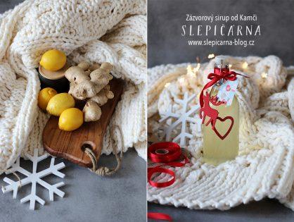 Zázvorový sirup jako jedlý vánoční dárek