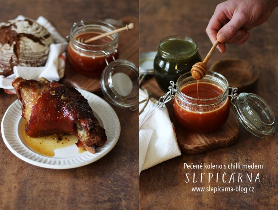 Zahřejte se pečeným kolenem s chilli medem
