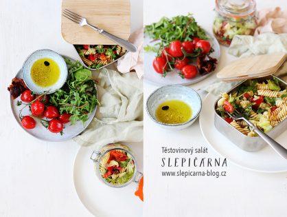 Studený těstovinový salát do krabiček