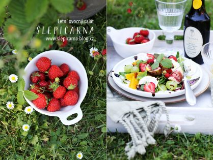 Super rychlý letní ovocný salát s mozzarellou