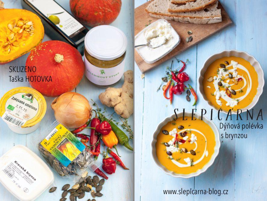 Klasika podzimní kuchyně: Krémová dýňová polévka s brynzou na zahřátí
