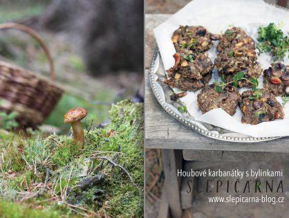 Rychlé a jednoduché houbové bramboráky s hovězím masem a bylinkami