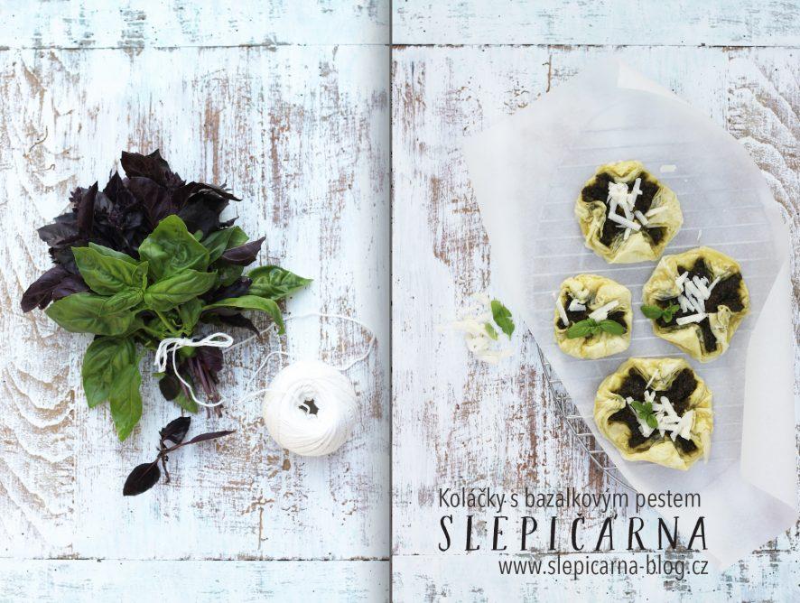 Rychlá večeře v podobě koláčků z listové těsta s bazalkovým pestem