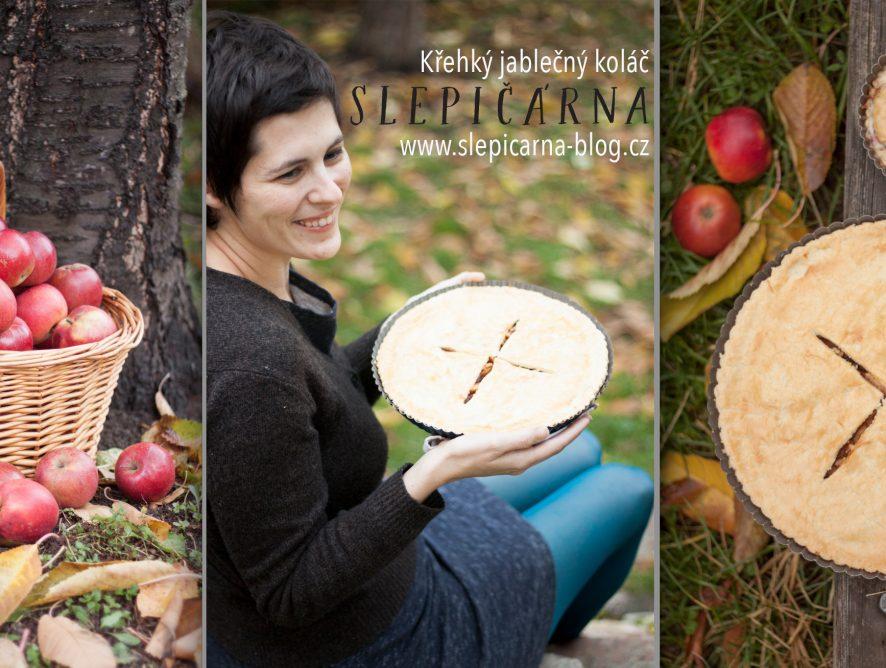 Apple pie: Křehký jablečný koláč se švestkami, vlašskými ořechy a tvarohem