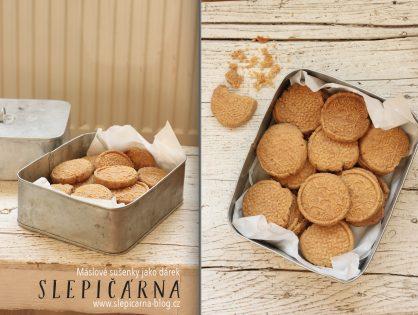 Máslové sušenky jako jedlý dárek