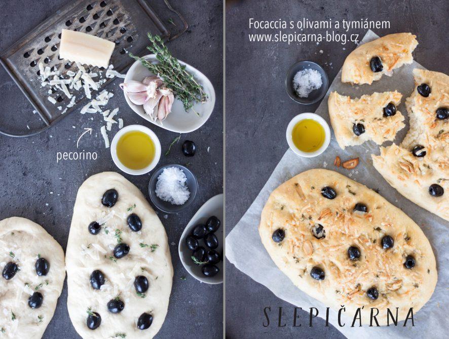 Naše milovaná italská focaccia s olivami a tymiánem krok za krokem