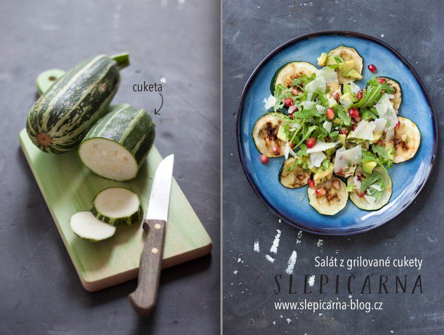 Bez masa: Letní grilovaná cuketa s avokádem