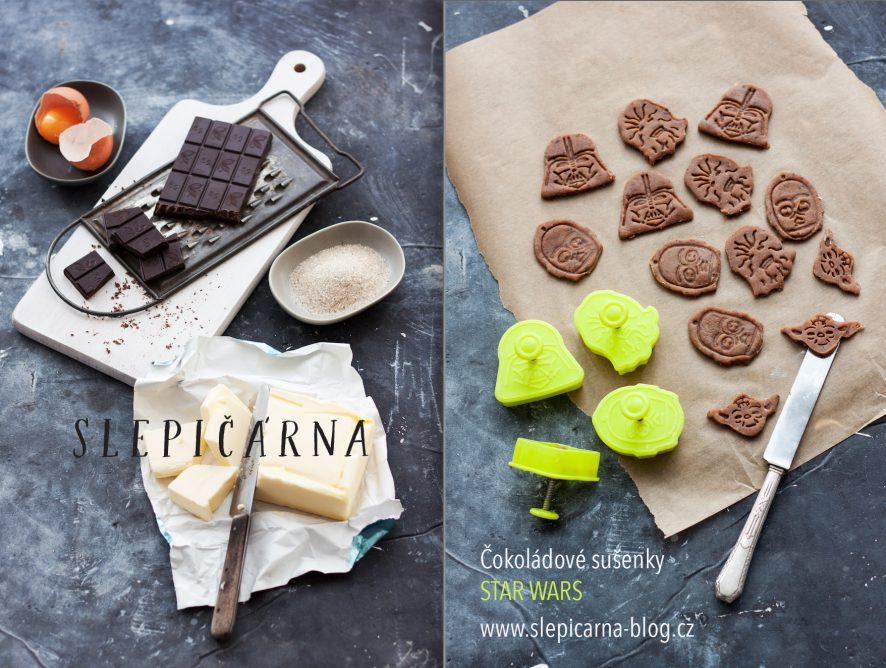 Narozeninová party 2: Čokoládové máslové sušenky ve stylu Star Wars