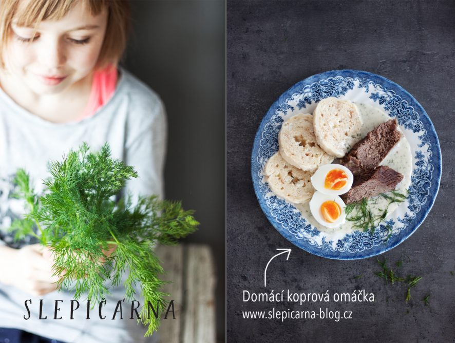 Škola české kuchyně: Koprová omáčka s hovězím masem, vejci a houskovými knedlíky