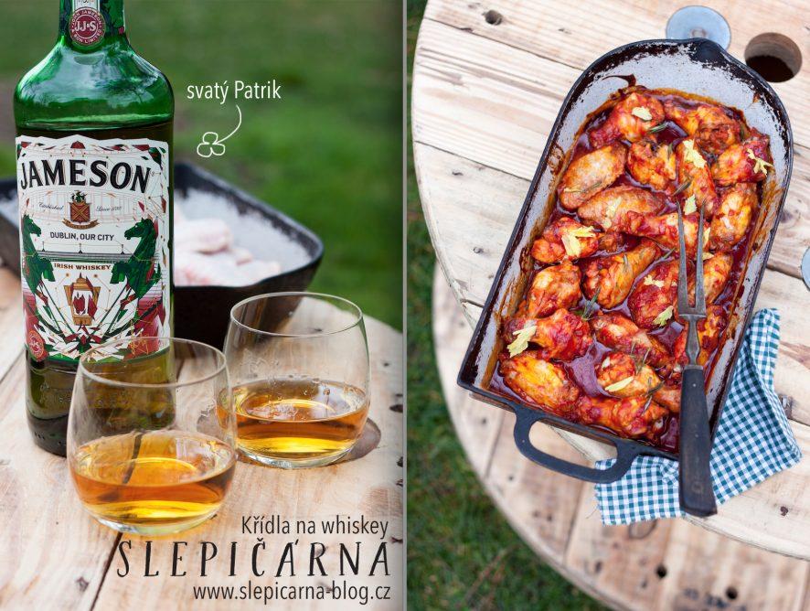 Na svatého Patrika: Pečené kuřecí křídla s marinádou z irské whiskey