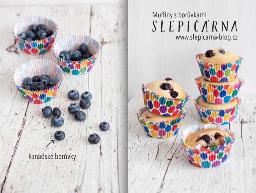 Muffiny s kanadskými borůvkami nejen na dětskou party