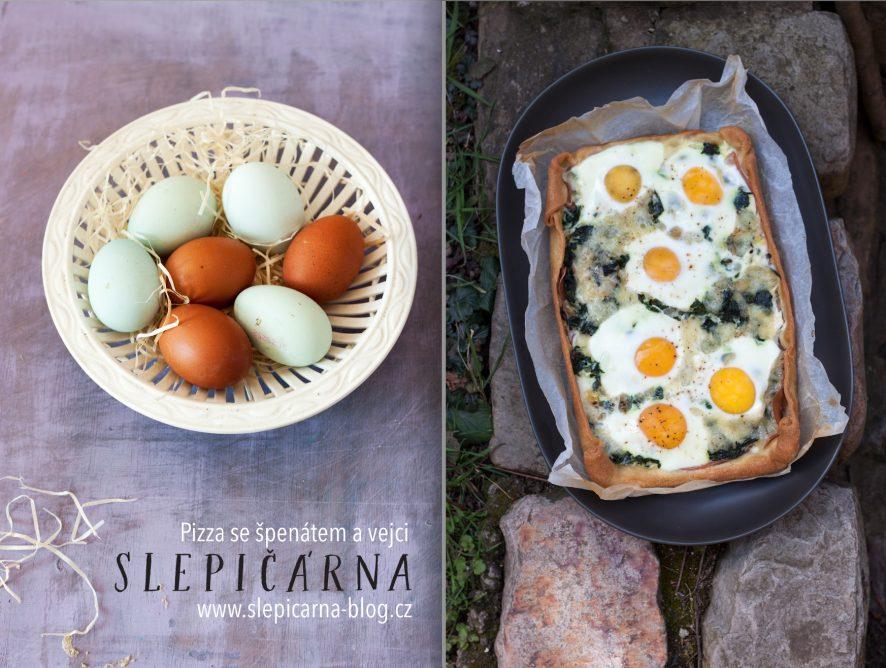 Vyrážíme na piknik: Jednoduchá pizza se špenátem a vejci