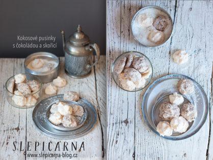 Vánoční cukroví na poslední chvíli: Sněhové kokosové pusinky provoněné čokoládou a skořicí