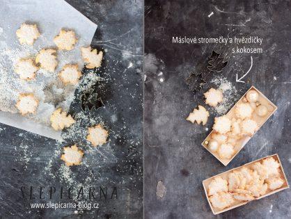Vánoční cukroví: Jak na snové máslové stromečky a hvězdičky zasypané nastrouhaným kokosem