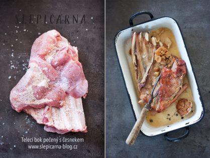 Dokonalá telecí pečínka s maldonskou solí, provoněná česnekem a šalotkami