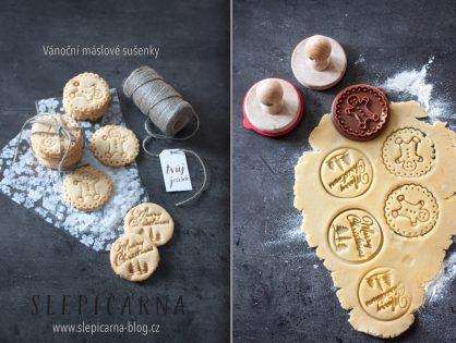 Vánoční máslové sušenky jako jedlý dárek nejen pro paní učitelky